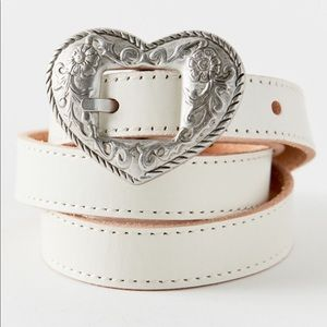 Urban Outfitters Heart Buckle Western Belt
